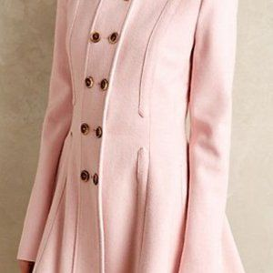 Anthropologie Pink Peacoat